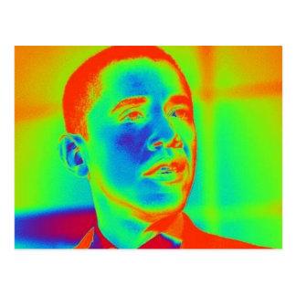 Postal hermosa del retrato del arte de Barack Obam