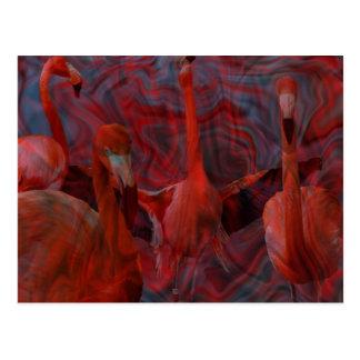 """""""Postal hermosa del rosa de la danza del flamenco"""" Tarjeta Postal"""