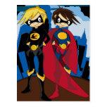 Postal heroica de los super héroes