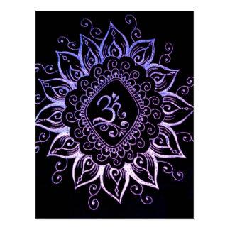 Postal hindú del símbolo de la alheña