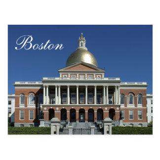 Postal histórica de la casa del estado de Boston M
