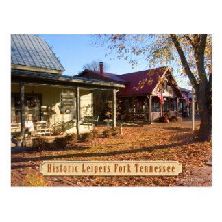 Postal histórica de Tennessee de la bifurcación de