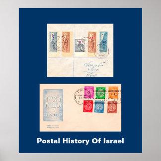 Postal History Of Israel Poster