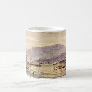 Postal Hobart, Tasmania, Australia del vintage Taza Básica Blanca