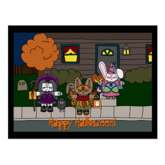 Postal hueco de Arrangeable Halloween de la hierba