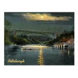 Postal hueco del vintage del lago panther