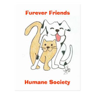 Postal humana de la sociedad de los amigos de Fure