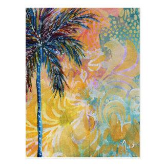 Postal ideal de la palmera de la tierra