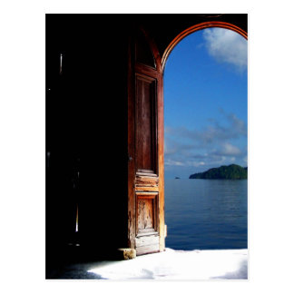 Postal ideal del Caribe de la entrada