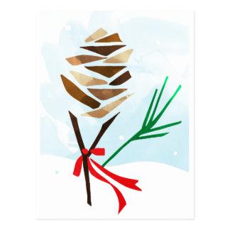 Postal ilustrada del día de fiesta del navidad del