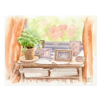 """Postal """"imágenes"""" de la bella arte, watercolour"""