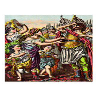 Postal impetuosa del voto de Jephthah