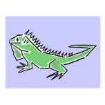 Postal impresionante de la iguana CH