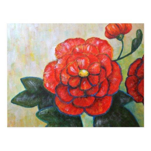 Postal impresionista de la flor de la bella arte d