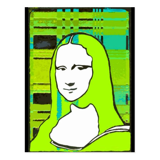 Postal incógnita de Mona