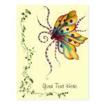 Postal increíble de la mariposa