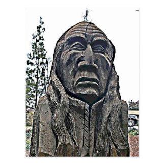 Postal india de la estatua de Ohlone