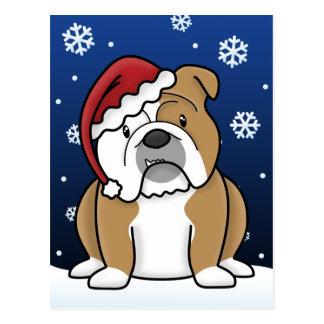 Postal inglesa del navidad del dogo de Kawaii