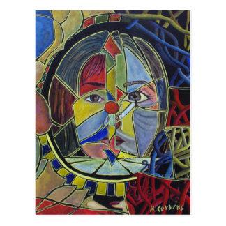 Postal insegura del arte abstracto de la vanidad
