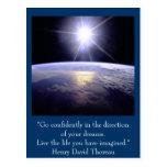 Postal inspirada. Cita: Henry David Thoreau
