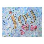 """Postal inspirada de la """"alegría"""" de la palabra"""