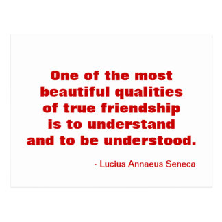 Postal inspirada de la amistad
