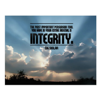 Postal inspirada de la integridad