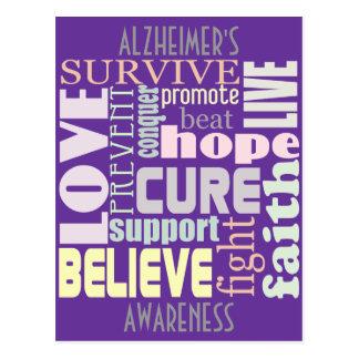 Postal inspirada de las palabras de Alzheimer