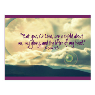 Postal inspirada del 3:3 del salmo