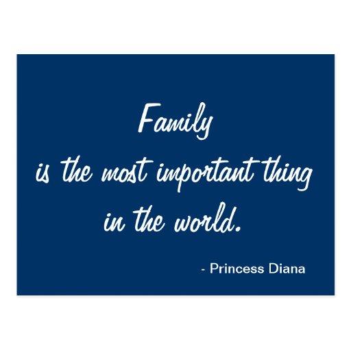 Postal inspirada - familia