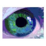 Postal intensa del extracto del ojo azul