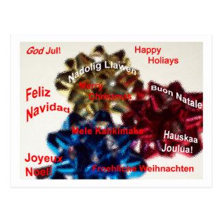 Postal internacional de las Felices Navidad