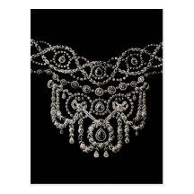 Postal/invitación del ~ del collar de la joyería d