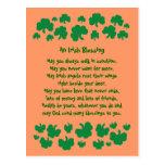 Postal irlandesa de la bendición