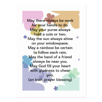 Postal irlandesa de la bendición del rezo