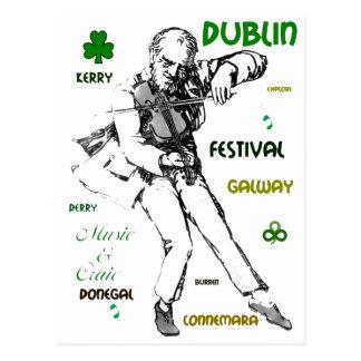 Postal irlandesa de la música