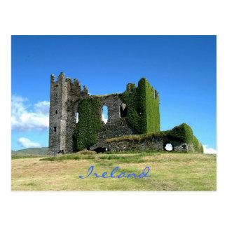 Postal irlandesa del castillo
