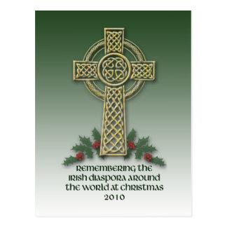 Postal irlandesa del navidad de la diáspora