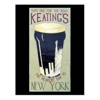 Postal irlandesa del Pub de Keating