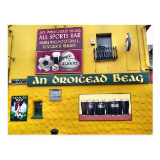 Postal irlandesa del Pub de la cañada