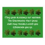 Postal irlandesa del trébol de la bendición