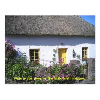 Postal irlandesa florida de la cabaña