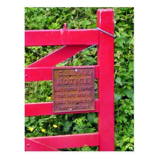 Postal irlandesa roja de la puerta