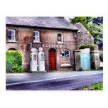 Postal irlandesa vieja de la gasolinera