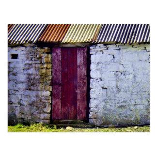 Postal irlandesa vieja del granero