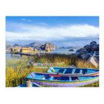 Postal, Islas Flotantes, Lago Titicaca Tarjetas Postales