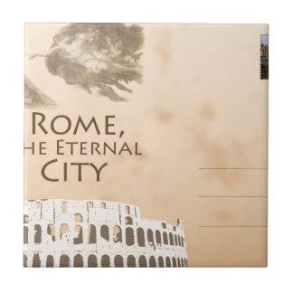 Postal italiana azulejo cuadrado pequeño