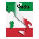 Postal italiana de la bandera de Italia