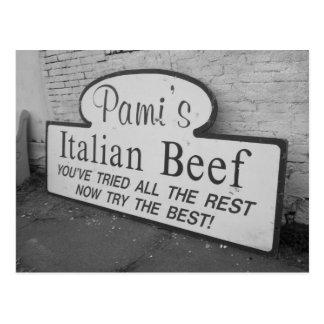 Postal italiana de la carne de vaca de Pami