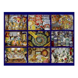 Postal italiana de la cerámica